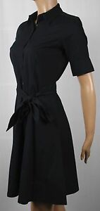 Ralph Lauren Knee Length Short Sleeve Black Dress Belt NWT $125