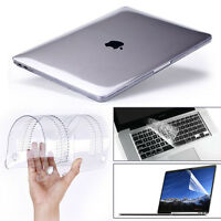 """Glossy Clear Hard Shell Case+Keyboard Cover For MacBook Air 11 Pro 13/15"""" Retina"""