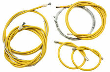 FIXIE OR SPORTS RACING BIKE FULL BRAKE & GEAR CABLE SET TAILOR MADE YELLOW
