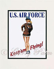 """Air Force Girl"" 11x14 Print by artist Garry Palm"