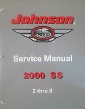 2000 Johnson 2 2.3 3.3 4 5 6 8 HP Outboard Factory Shop Service Repair Manual