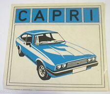 VECCHIO ADESIVO AUTO / Old Car Sticker FORD CAPRI (cm 12 x 11)