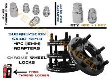 15mm Subaru 5x100 to Scion 5x114.3 Conversion Adapter With Wheel Locks 12x1.25