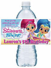 20 SHIMMER AND SHINE BIRTHDAY PARTY FAVORS WATER BOTTLE LABELS