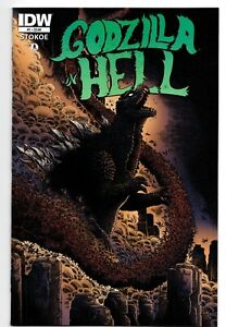 GODZILLA in HELL # 1 IDW COMICS 2015 FIRST PRINT LOW DISTRIBUTION RUN STOKOE
