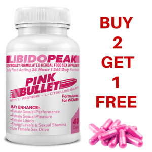 LibidoPeak Pink Bullet Woman Female Aphrodisiac Libido Sex BUY 2 GET 1 FREE