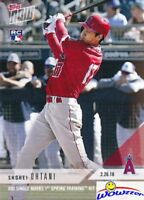 2018 Topps Now Shohei Ohtani FIRST PRINTED TOPPS HITTING ROOKIE MINT Angels LE