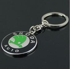 BIN Skoda 3D Auto Car Keyring Gift Keychain Metal Key Chain Ring Keyfob