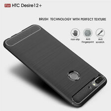 Shockproof Soft Silicone Rubber Brushed Back Case Cover for HTC Desire 12/12Plus