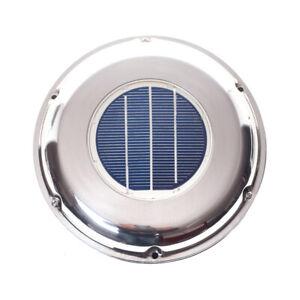 Edelstahl Solarlüfter Ventilator inkl. Akku für Boot WATTSTUNDE® Bootslüfter