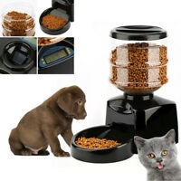 5.5L Automatic Pet Feeder Food Dish Bowl Dispenser LCD Display Dog Cat