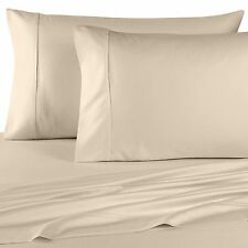 1500 Thread Count Egyptian Cotton Bed PILLOW CASE SET 1500 TC KING Ivory Solid