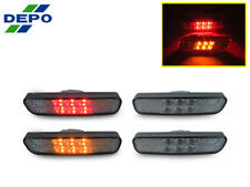 DEPO JDM Smoke Amber Front+Rear Red LED Side Marker Light For 99-03 Lexus RX300