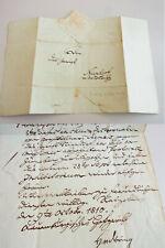 Vorphila-Brief RATZEBURG 1810, von Hofgericht-Präsident Heinrich von DÖRING
