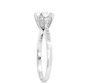 Sterling Silver 925 Flower Engagement Ring UK Seller