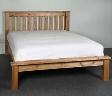 6FT Super King Bed Frame SOLID PINE CHUNKY LOW FOOT