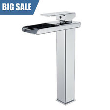 Chrome Bathroom Basin Sink Faucet Vessel Single Lever One Hole Mixer Tap Tall