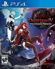 PLAYSTATION 4 PS4 GAME DECEPTION IV: THE NIGHTMARE PRINCESS NEW AND SEALED