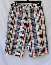 NWT Arizona Blue Red plaid Slim fit Shorts Sz 18 Youth slim adjustable waist