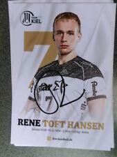 Rene Toft Hansen, THW Kiel, Handball, original Autogramm, DM 2018