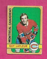1972-73 OPC # 59 CANADIENS GUY LAFLEUR 2ND YEAR  GOOD CARD  (INV# D1230)