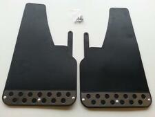 1 PAIR FRONT Black RALLY Mud Flaps Splash Guards fits SSANGYONG (MF2) x 2