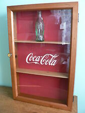 Coca Cola Bottle Display Case ~ Solid Cherry ~ NICE!!!!