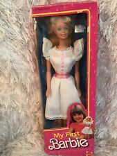 My First Barbie Doll #1875 New Never Removed from Box 1984 Mattel, Inc.