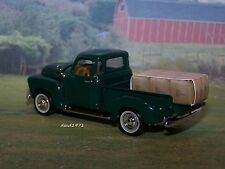 COLLECTIBLE 1950 50 CHEVY 3100 PICKUP TRUCK 1/64 SCALE DIECAST MODEL - DIORAMA