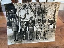 More details for large 1936 photo of 1st colour party ( the buffs ) on king edward v111s birthday