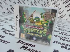 TEENAGE MUTANT NINJA TURTLES ARCADE ATTACK NINTENDO DS 3DS ITALIANO COMPLETO