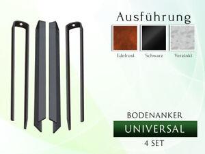 Bodenanker Anker Erdnägel Haken Erdnagel Zeltheringe  2/4 Set UNIVERSAL  L 41 cm
