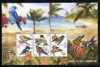 36258) NEVIS 1999 MNH** Birds 6v m/s