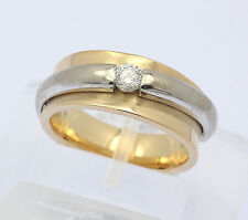 Solitär Ring in aus 750er 18 kt Gelb Weiß Gold Diamant Brillant Brilliant Gr. 55