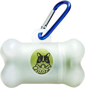 Dog Poop Bag Holder Portable Poop Bag Dispenser with 15 Rolls Dog Poop Bags