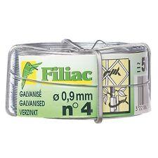 Bobine de fil de fer galvanisé N°4 - Ø0.9 mm - FILIAC