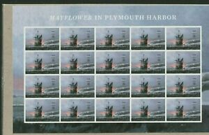 MAYFLOWER IN PLYMOUTH HARBOR 2020 US HISTORY 5524 FOREVER 20 MVF STAMP SHEET NIP