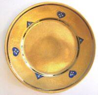 Bavaria Thomas 1908-1939 Gold Encrusted China 1 Dinner Plate AOG Platinum Blue