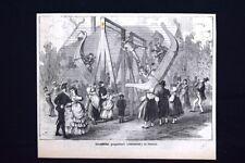 Giuochi popolari Viennesi: la gondola + Una Cena Incisione del 1875