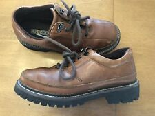 RJ Colt Buffalo Mens Size 8 Brown Leather Lace Up Dress Casual Shoes