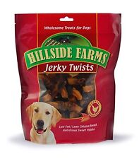 Hillside Farms Chicken and Sweet Potato Premium Dog Treats Jerky Twists 32 Ounce