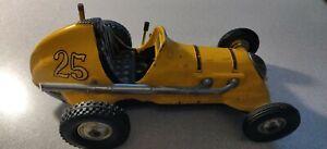 Vintage Roy Cox Thimble Drome Champion Tether Race Car #25  Yellow.