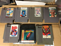 Lot Of 7 NES Nintendo Entertainment System Games - Tested (Castlevania 2, Mario)