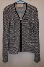 Ladies River Island Grey Mix Summer  Zip Jacket Size 8 Gold Zip Detail