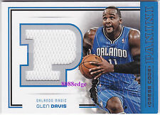 2012-13 PANINI DRESS CODE GAME-WORN JUMBO SWATCH: GLEN DAVIS #26 ORLANDO MAGIC