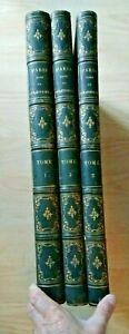 """"""" Paris dans sa splendeur """" 100 lithographies  Monuments 1861 3 volumes"""