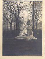 París Estatua Jardin Del Luxemburgo? Foto Aficionado Vintage Analógica 1900