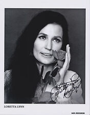 Loretta Lynn HAND SIGNED 8x10 Photo, Autograph, Coal Miner's Daughter