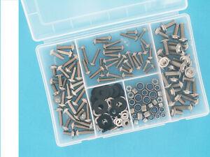 Verkleidungsschrauben, Schrauben Verkleidung M5, M6, M8 Edelstahl 190 teilig