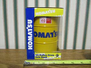 Komatsu 55 Gallon Drum Coin Bank   By First Gear 1/6th Scale